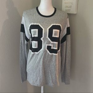 Topman Gray 89 Long Sleeve Top